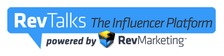 Rev Talks Influencer podcasting platform logo